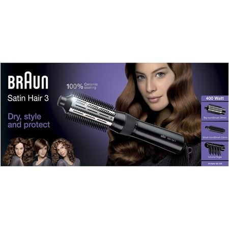 Braun AS 330 Satin Hair 3 Warmluftbürste schwarz